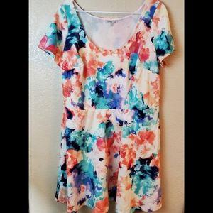 Charlotte Russe Floral Boho Fit Flare Summer Dress